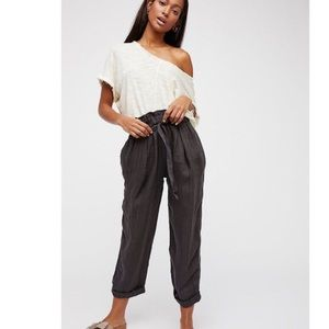 NWT Free People Only Over You Paperbag Waist Pants